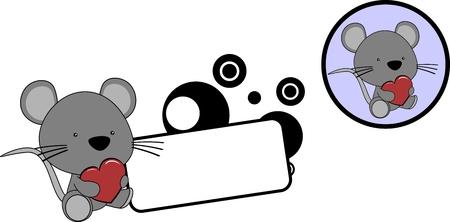 Ilustración de Cute cartoon baby mouse cartoon set in vector format very easy to edit - Imagen libre de derechos