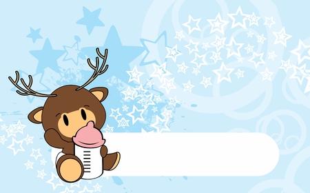 Ilustración de Cute baby deer card design. - Imagen libre de derechos