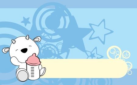 Ilustración de Cute baby ram card design. - Imagen libre de derechos