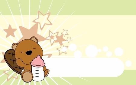 Ilustración de Cute baby animal card design. - Imagen libre de derechos