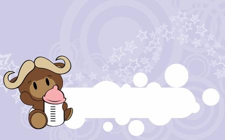 Ilustración de Cute baby goat card design. - Imagen libre de derechos