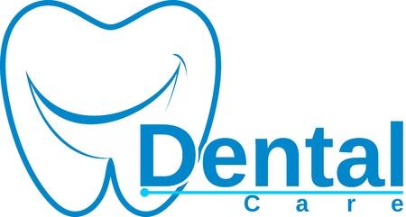 molar with smile dental logo