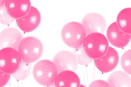 Photo pour Pink party balloons - image libre de droit