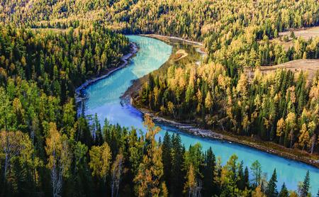 Photo pour Burqin County, Xinjiang, Altay Prefecture, Kanas scenery - image libre de droit