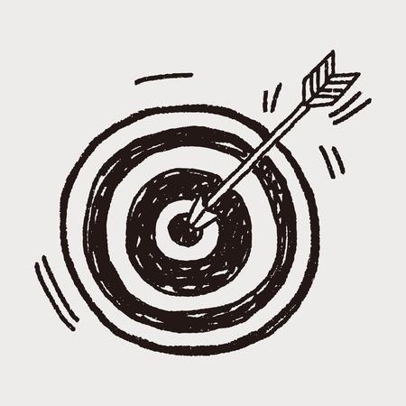 Ilustración de Doodle Archery - Imagen libre de derechos
