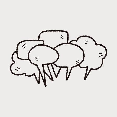 Illustration pour people talk doodle - image libre de droit