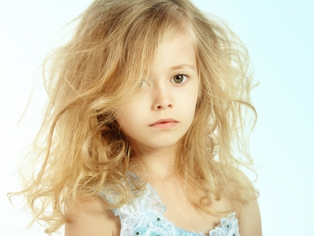 Photo for Portrait of pretty little girl. Fashion photo - Royalty Free Image