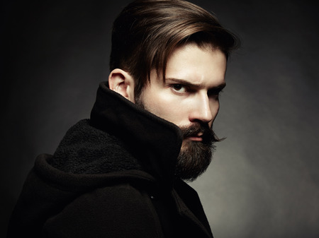 Photo for Portrait of handsome man with beard  Close-up - Royalty Free Image