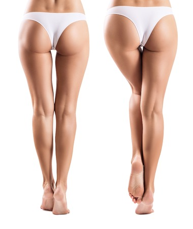 Foto de Collage with perfect legs from different view. - Imagen libre de derechos