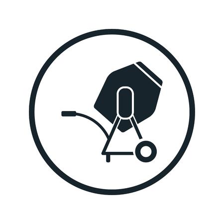 Illustration pour Concrete mixer icon - image libre de droit