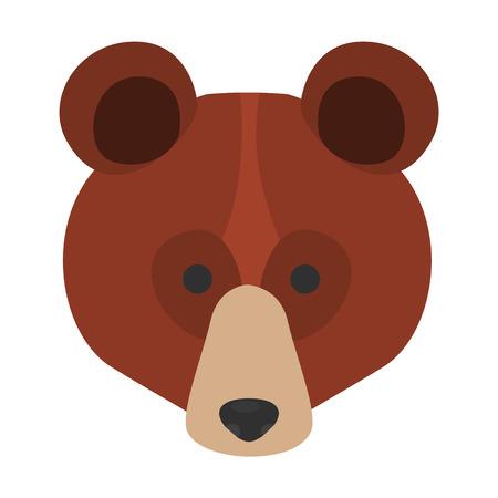 Bear muzzle flat icon