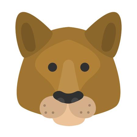 Dog muzzle flat color icon