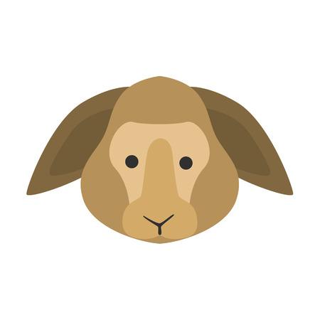 Animal muzzle flat icon