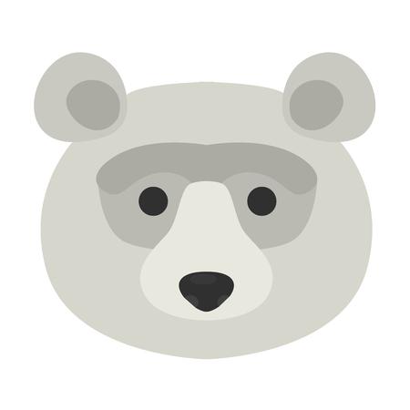 Animal muzzle flat color icon