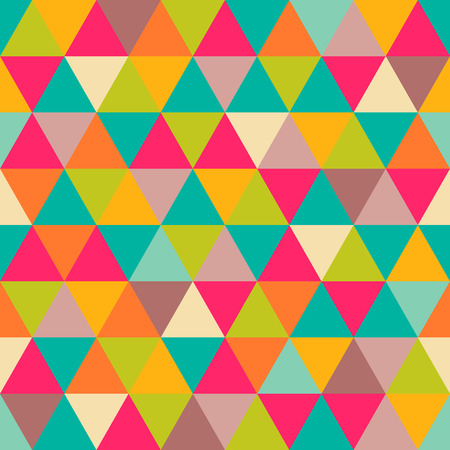 Illustration pour Abstract geometric triangle seamless pattern  - image libre de droit