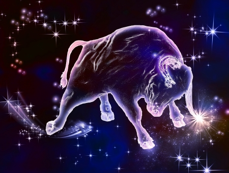 Photo pour Powerful beauty, beautiful force, that what the sign of Taurus is  April and May are the months of Bull  Enjoy this amazing astrological animal  - image libre de droit