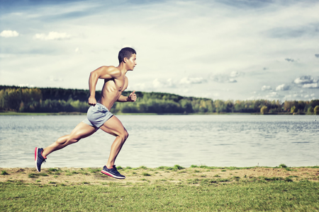 Photo for Sport concept. Runner man - Royalty Free Image