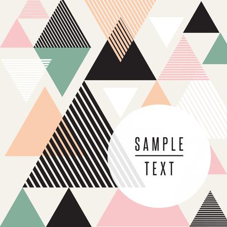 Illustration pour Abstract triangle design with text - image libre de droit