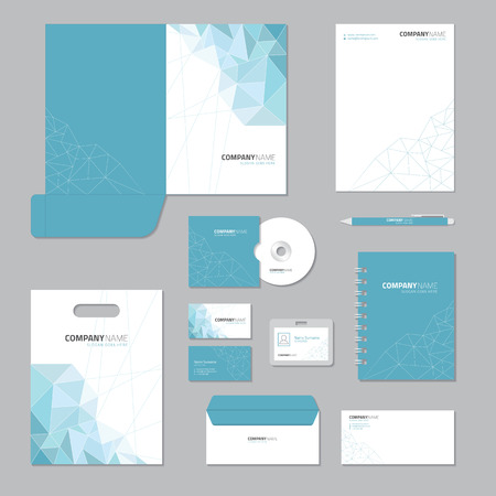 Illustration pour Stationary template design. Corporate identity business set. - image libre de droit
