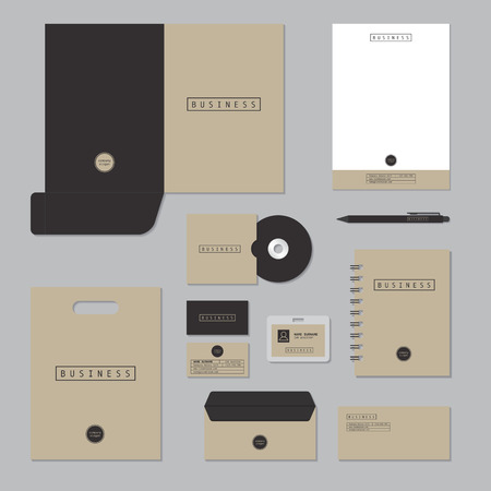 Ilustración de Stationary template design. Corporate identity business set. - Imagen libre de derechos