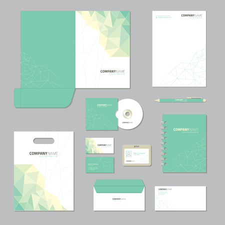 Ilustración de Stationery template design. Corporate identity business set. - Imagen libre de derechos