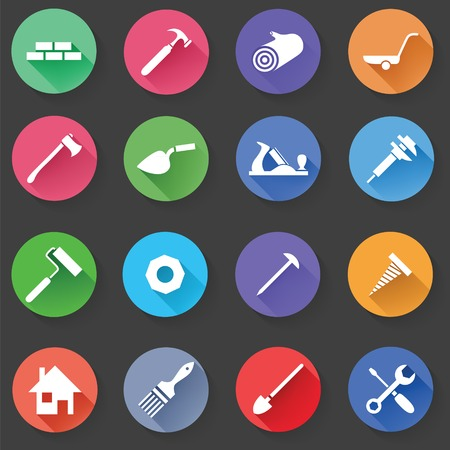Photo pour Set of Universal Standard Flat Isolated construction Icons. Construction Icons. Vector illustration - image libre de droit