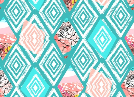 Illustration pour Vector Tribal Mexican vintage ethnic seamless pattern - image libre de droit