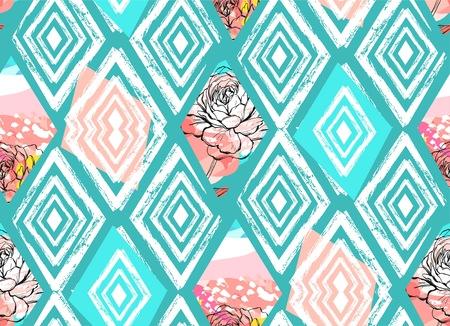 Ilustración de Vector Tribal Mexican vintage ethnic seamless pattern - Imagen libre de derechos