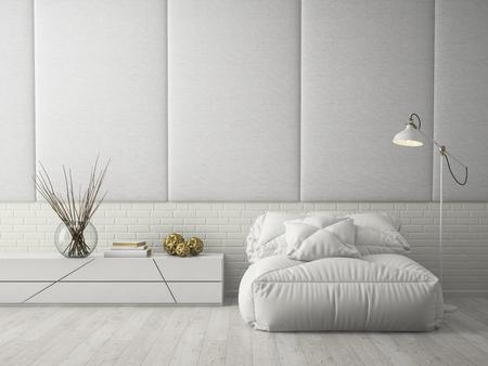 Photo pour Interior modern design room 3D rendering - image libre de droit
