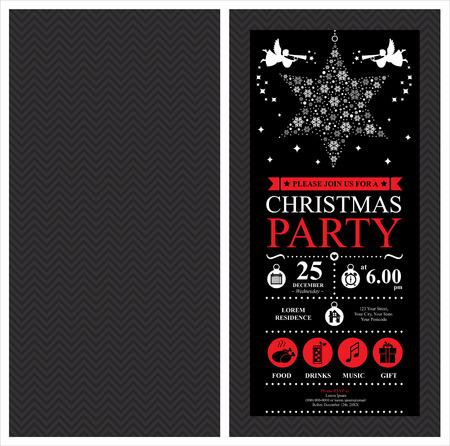 Ilustración de Christmas Party Invitation Card - Imagen libre de derechos