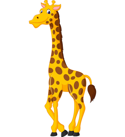 Illustration pour Cute giraffe cartoon of illustration - image libre de droit