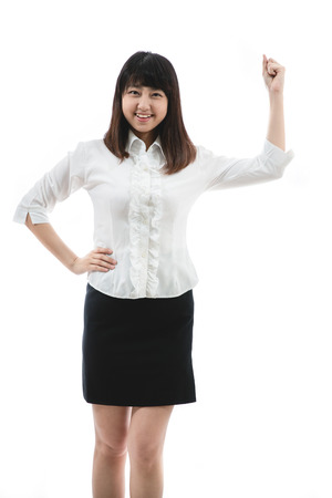 young woman Clenching Fist