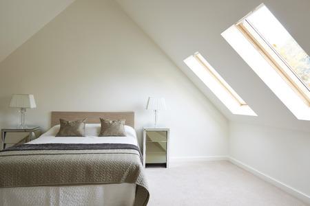 Foto de Interior View Of Beautiful Luxury Bedroom - Imagen libre de derechos