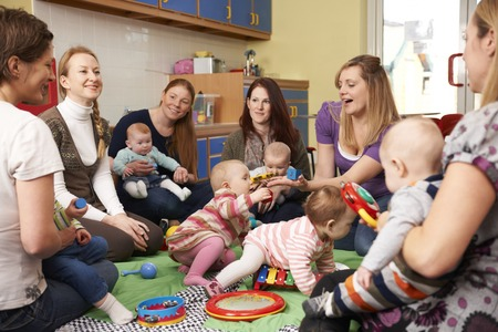 Photo for Group Of Mothers With Babies At Playgroup - Royalty Free Image