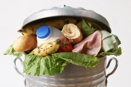Foto per Fresh Food In Garbage Can To Illustrate Waste - Immagine Royalty Free
