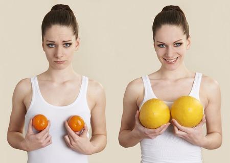 Photo pour Conceptual Image To Illustrate Breast Enlargement Surgery - image libre de droit
