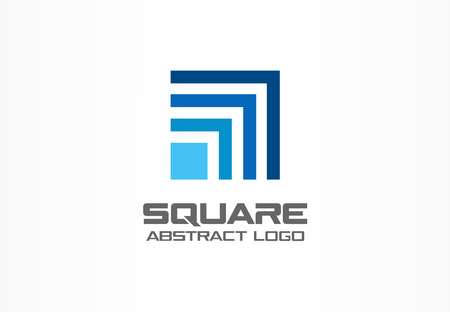 Illustration pour Abstract logo for business company. Corporate identity design element. Technology, Industrial, Logistic, Social Media logotype idea. Square, network, banking growth concept. Colorful Vector icon - image libre de droit