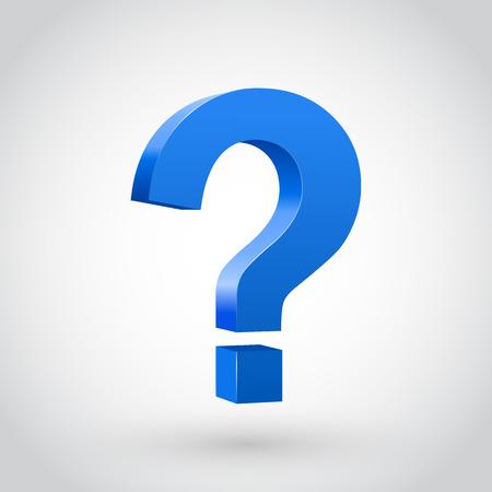 Illustration pour Blue question mark, isolated on white. Vector illustration - image libre de droit