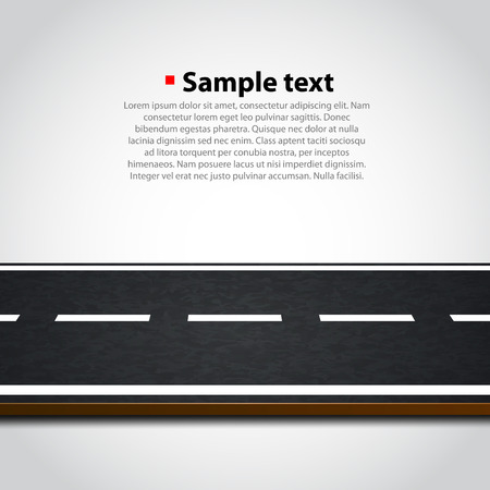 Illustration pour Road isolated on white. Clean vector background - image libre de droit