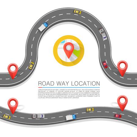Illustration pour Paved path on the road art. Vector background - image libre de droit
