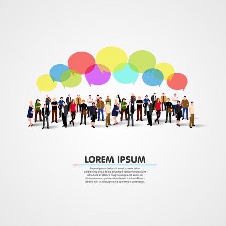 Illustrazione per Business social networking and communication concept. Vector illustration - Immagini Royalty Free
