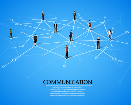 Illustration for Connecting people. Social network concept. Vector illustration - Royalty Free Image