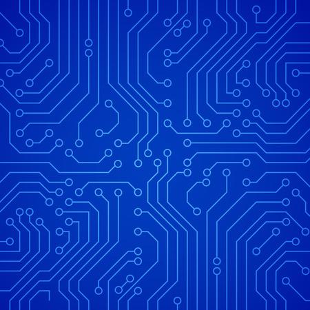 Illustration pour Vector circuit board or microchip. Blue vector background - image libre de droit