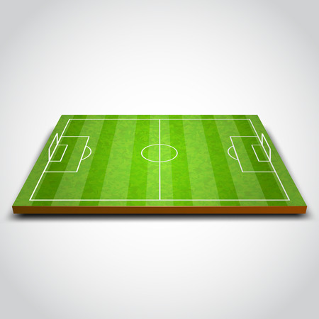 Illustration pour Clear green football or soccer field. Vector illustration - image libre de droit