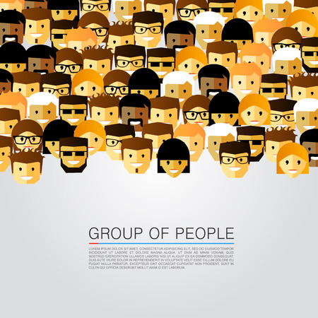 Illustration pour Large group of people art. Vector illustration - image libre de droit