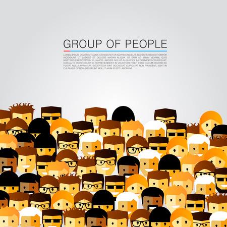 Photo pour Large group of people art. Vector illustration - image libre de droit