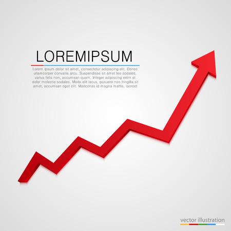 Ilustración de Growing business arrow on white background. Vector illustration - Imagen libre de derechos