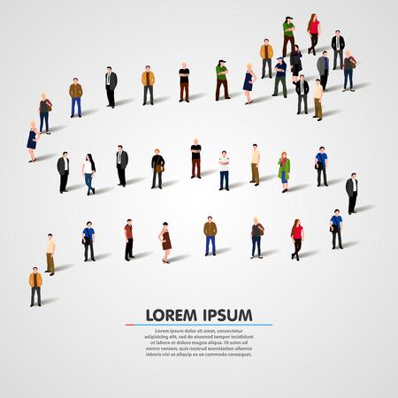 Photo pour Business people standing in a line. Vector illustration - image libre de droit