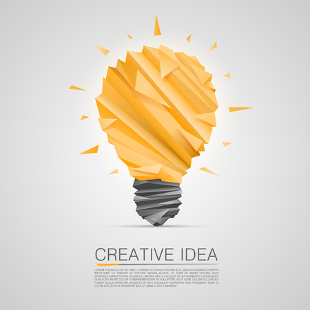 Ilustración de Creative idea of origami lamp. vector illustration - Imagen libre de derechos
