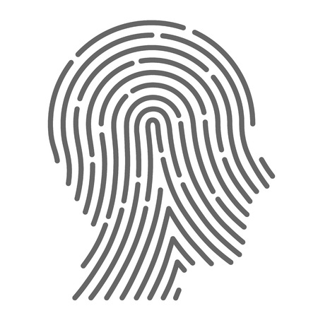 Ilustración de Symbol fingerprint head art creative. Vector illustration - Imagen libre de derechos
